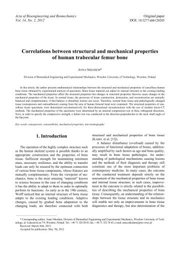 Correlations between structural and mechanical properties of ...