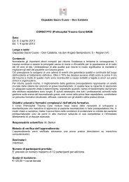 Programma - Ospedale Sacro Cuore Don Calabria