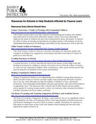Resources for Schools to Help Students Affected by Trauma Learn