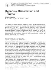 10 Hypnosis, Dissociation and Trauma