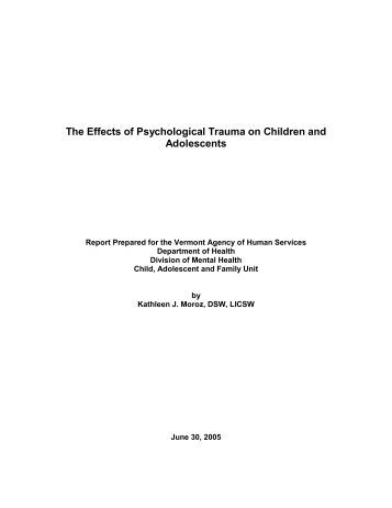 trauma in children and adolescents 3 children and adolescents at high risk: important characteristics and critical  issues 4 children exposed to trauma and/or maltreatment 4.