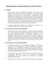 Regolamento del consenso informato all'attività medica - Azienda ...