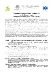 Programma Corso Soccorritori Volontari 2009 Livello Base e Avanzato