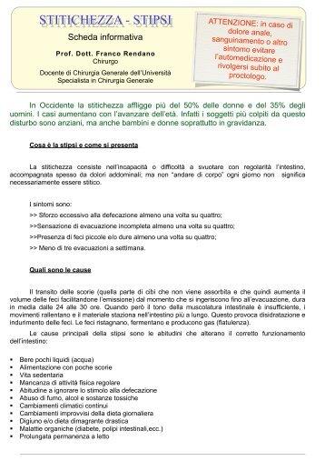 STITICHEZZA - STIPSI - Prof. Dott. Franco Rendano