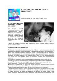 Il dolore del parto - Evidence Based Nursing