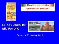 LA DAY SURGERY DEL FUTURO - Associazione Day Surgery Italia