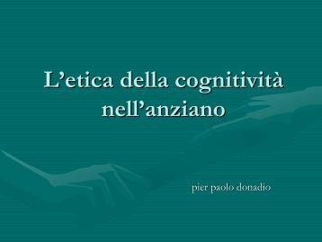 L'ETICA della cognitività nell'anziano