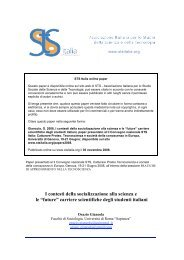 """I contesti della socializzazione alla scienza e le """"future ... - STS Italia"""