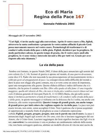 Eco di Maria Regina della Pace 167