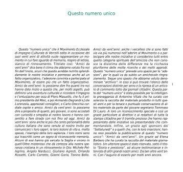 Amici da vent'anni - MEIC Vercelli
