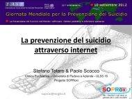 La prevenzione del suicidio attraverso internet - SOPRoxi