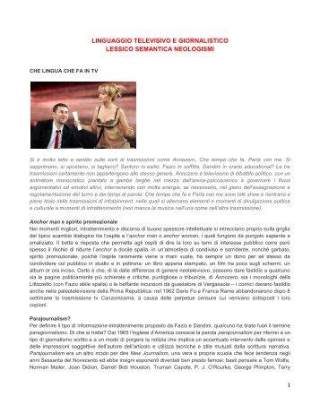 linguaggio televisivo e giornalistico - Studio-arcobaleno.it