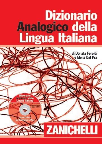 Dizionario Analogico della Lingua Italiana - Dizionari - Zanichelli