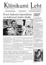 nr 35 August - Tartu Ülikooli Kliinikum