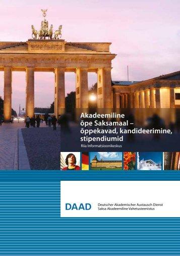 Akadeemiline õpe Saksamaal – õppekavad ... - Daad.lv