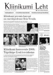 Kliinikumi konverents 2006: Tiigrihüpe Eesti tervishoius