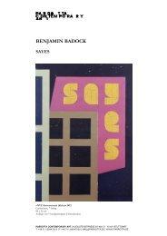 Benjamin Badock - Parrotta Contemporary Art
