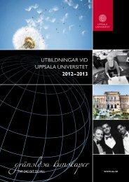 katalogen för 2012/2013 - Uppsala universitet