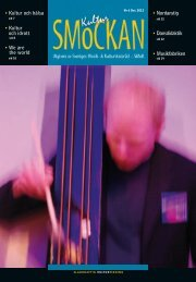 KULTURSMOCKAN nr 6/2012.pdf - SMoK - Sveriges Musik