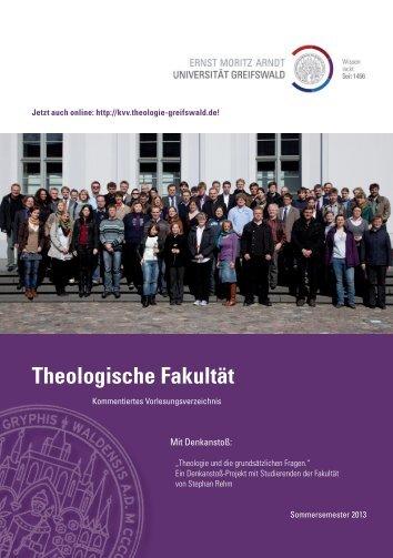 Gesamtausgabe KVV SS 2013 - Theologische Fakultät - Ernst ...