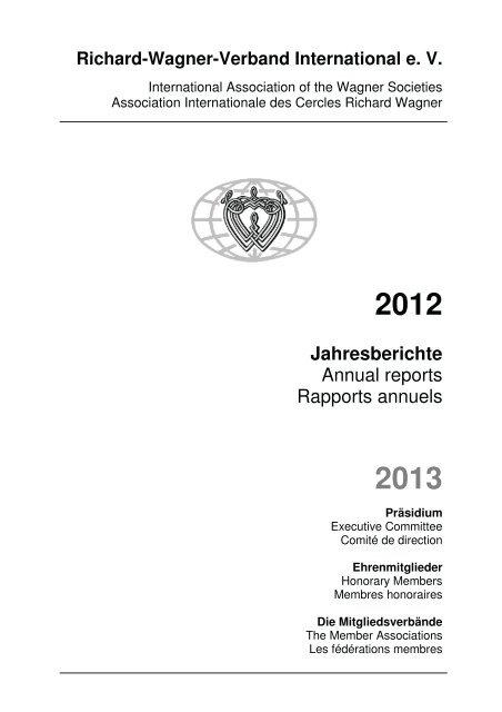 Jahresberichte Annual Reports Rapports Annuels Richard