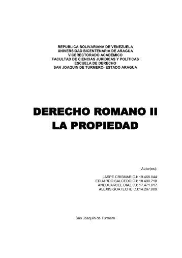 derecho romano la propiedad - guiasuba
