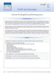 ECARF Qualitätssiegel - Schmallenberger Sauerland