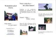 Walderlebnispfad Dorlar - Sauerländer Wandergasthöfe eV