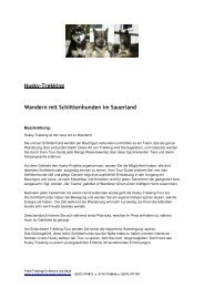 Husky-Trekking Wandern mit Schlittenhunden im Sauerland