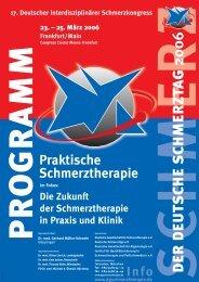 Hauptprogramm Schmerztag 2006 - Schmerz Therapie Deutsche ...