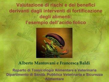 """Baldi - Mantovani """"Acido Folico: Rischio-beneficio di interventi"""
