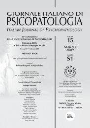 Abstract book - Journal of Psychopathology
