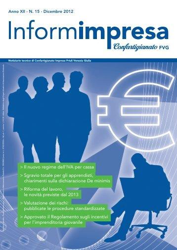 informimpresa n. 15 - 2012 - Confartigianato isontino