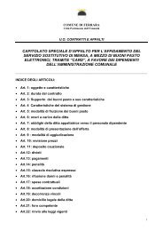 capitolato speciale d'appalto per l'affidamento del servizio sostitutivo ...