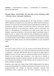 Contributi - Somministrazione irregolare - Intermediazione di ... - Inps