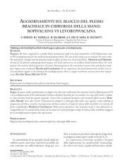 aggiornamenti sul blocco del plesso brachiale in chirurgia della mano