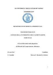 Il TEST DI RORSCHACH NELLA DIAGNOSTICA DEI DCA - FedOA