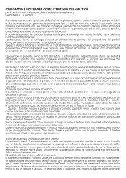 omeopatia e bioterapie come strategia terapeutica - (SMB) Italia