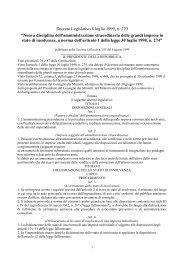 Decreto Legislativo 8 luglio 1999, n. 270