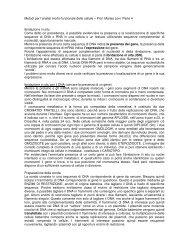 Metodi per l'analisi morfo-funzionale delle cellule – Prof. Marisa Levi ...