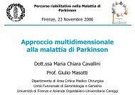 Approccio multidimensionale alla malattia di Parkinson