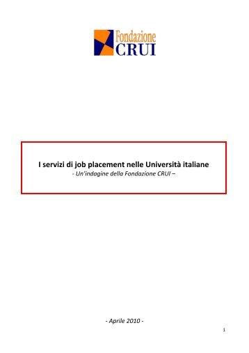 I servizi di job placement nelle Università italiane - Fondazione CRUI