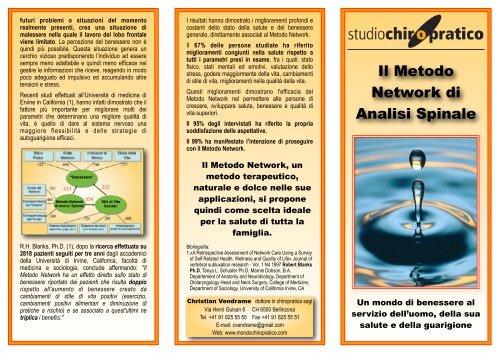 Il Metodo Network Di Analisi Spinale Mondo Chiropratico