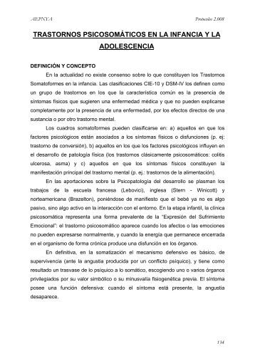 Psicosomática - Asociación Española de Pediatría