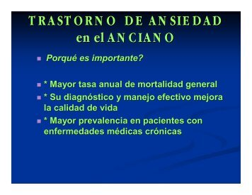 TRASTORNO DE ANSIEDAD en el ANCIANO - Meducar