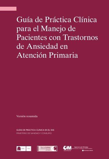 GPC sobre Ansiedad - GuíaSalud