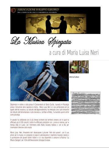 a cura di Maria Luisa Neri - Ase - Associazione Sviluppo Europeo