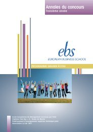 Annales du concours 2012 pour l'entrée en - EBS Paris