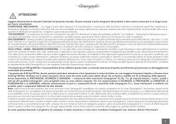 Manuale ruote BORA ONE - 05/2013 NEW DOC - Campagnolo