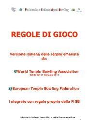 Regole di gioco - Federazione Italiana SPORT Bowling